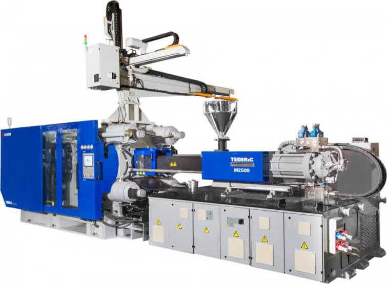 TEDERIC HYDRAULIC INJECTION MOLDING MACHINE TWO PLATEN FROM 55 TO 700 T