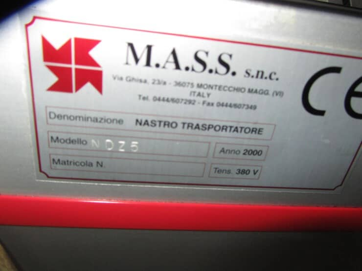 CONVEYOR BELT MASS type NDZ5