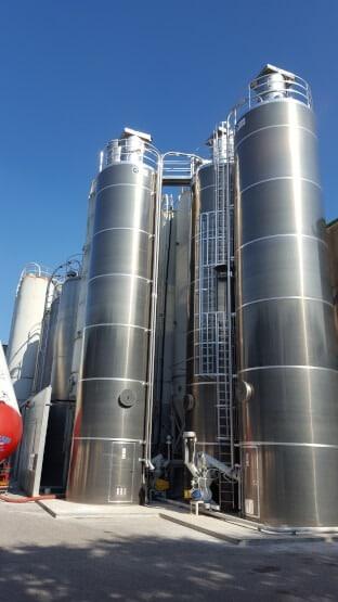 Silos de stockage en aluminium ou inox
